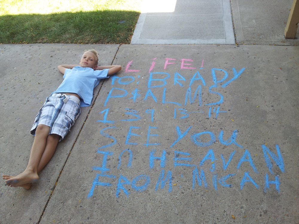 Pro-Life Chalk Day // A Voice For Brady!
