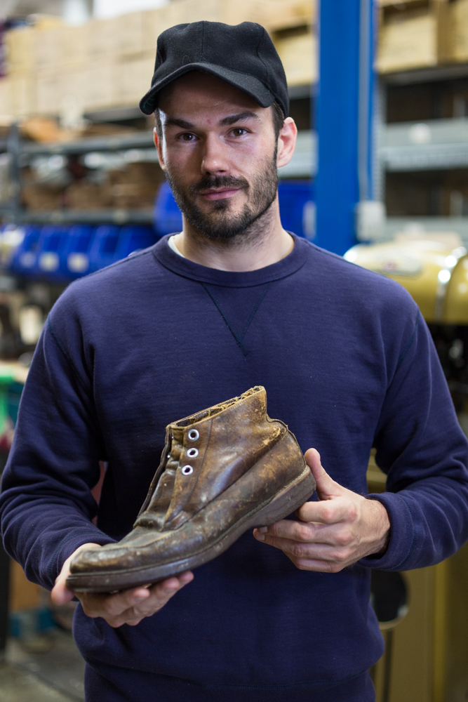 Brett Viberg with his favourite boot (vintage Wolverine 1000 Mile)