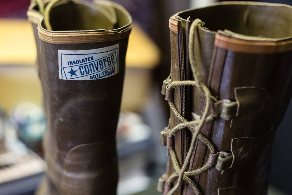 These obscure hunting boots were made by the Converse Rubber Company before they started making athletic footwear. A rare example that illustrates how far the footwear brand has evolved, and the change in direction over the years.