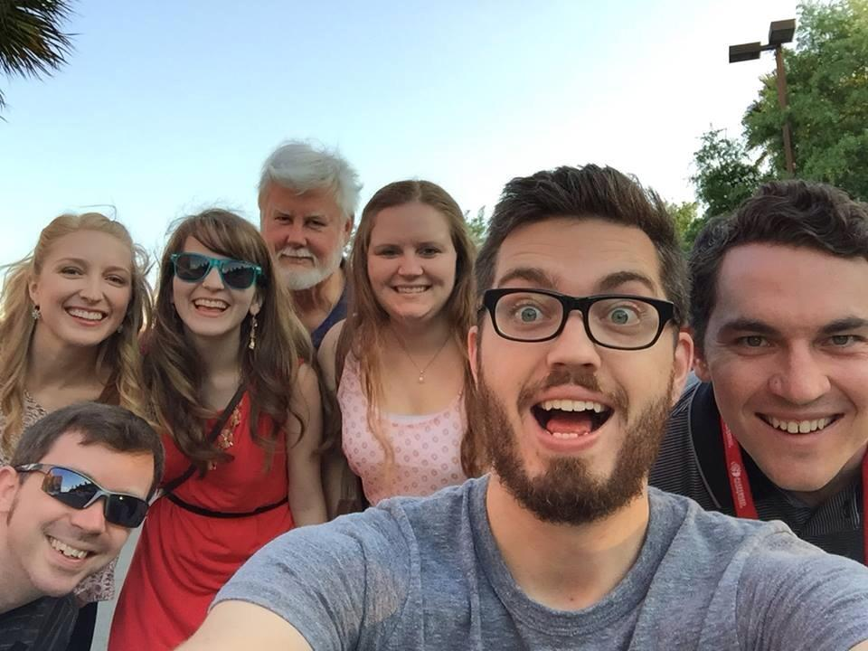 The group selfie in Savannah. It's better than Ellen's selfie right?