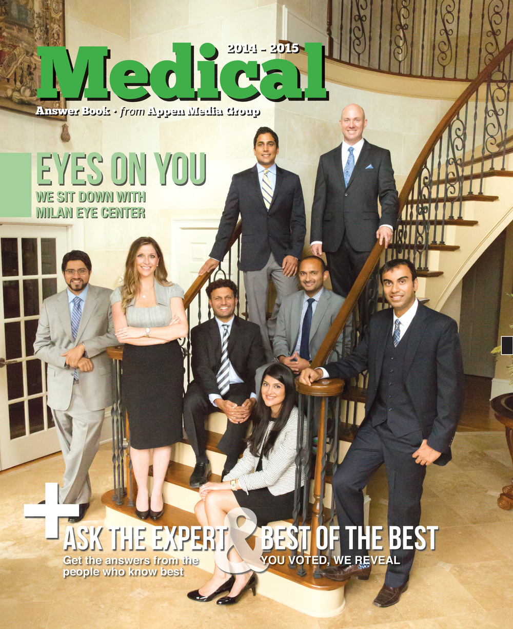 The time I brought Milan Eye Center to a friend's house and shot the cover of Medical Answer Book. Thanks again Kelly Stoks!
