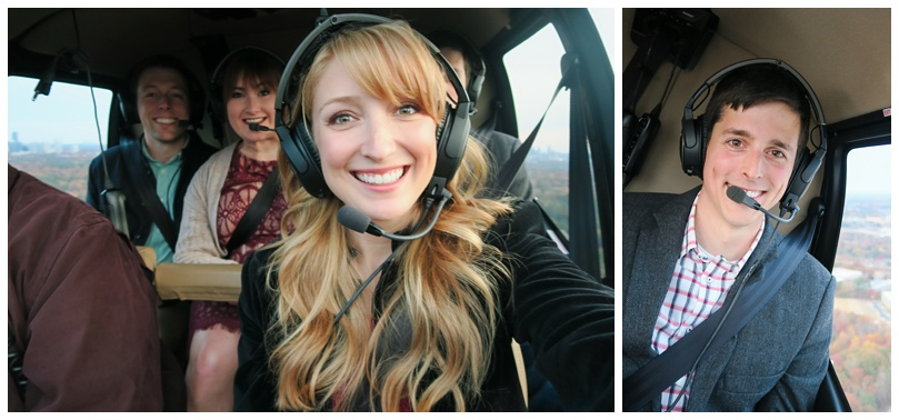 Inside the helicopter!
