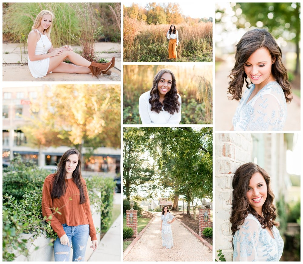 Just a few of the amazing seniors I have photographed!