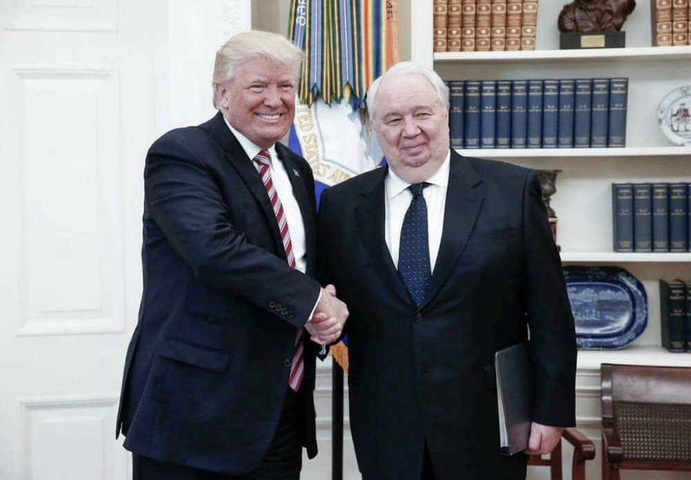 May 10, 2017  President Donald Trump and Russian Ambassador Sergey Kislyak                                                                       Photo from Twitter