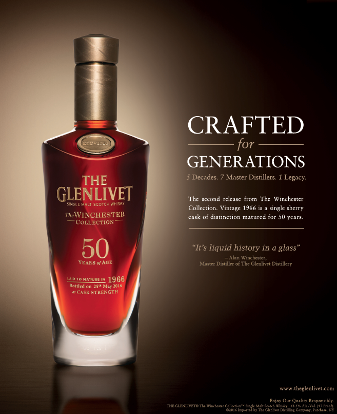 The Glenlivet 50 Year Old - A print execution for a very special single malt. At $25,000 per bottle, it was the finest spirit I've yet written about. Since all 100 bottles were pre-sold well before the campaign launched, our mission to create a halo effect. In addition to print, we created an interactive sales tool, trade materials and posters.