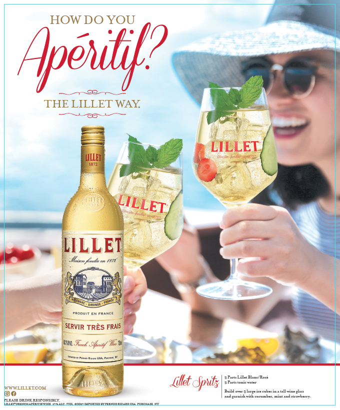 This is much more than a print ad for Lillet - What started as as a project to create some routine sales materials ended up being adopted as the brand's consumer marketing platform.  I began by considering the category the French spirit Lillet occupied -- apéritif. While that may be familiar in France, many Americans didn't know what to make if it. Was it a wine? A cordial? Something you mixed in a cocktail?By turning Lillet into a occasion through 4 words of copy, I created context for the the word