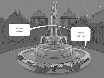 """Reel Around the Fountain"" -  Unite and Take Over, Volume 2  art by Traci Hui"