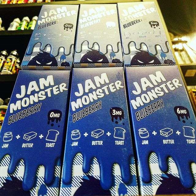 We now have Jam Monster in stock!! Come by & try this delicious Blueberry Jam 🍇with butter toast, great flavor!!😎