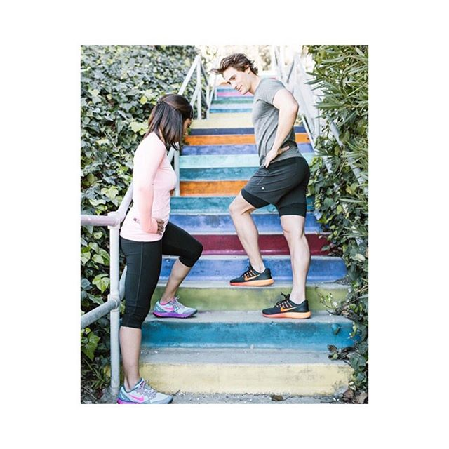 Happy Friday! Time to hit the stairs over the weekend! Check out the new workout at LC.com! See you at the top! 📷@jessiburrone #getfit #drhuntervincent #aagt #laurenconrad #stairworkout