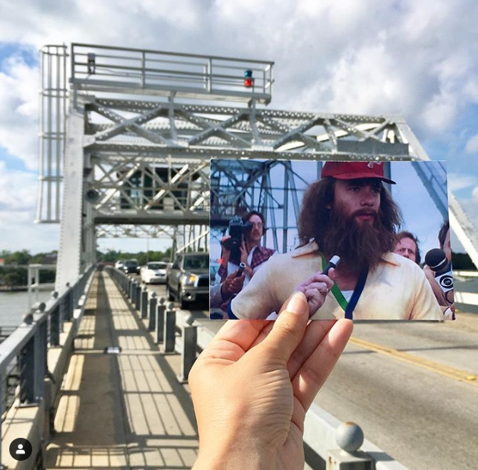 Wood's memorial bridge / downtown beaufort
