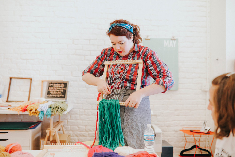 - I travel throughout the Midwest teaching weaving and macrame workshops to beginner-level students. I find that my classes are usually evenly divided between students who consider themselves