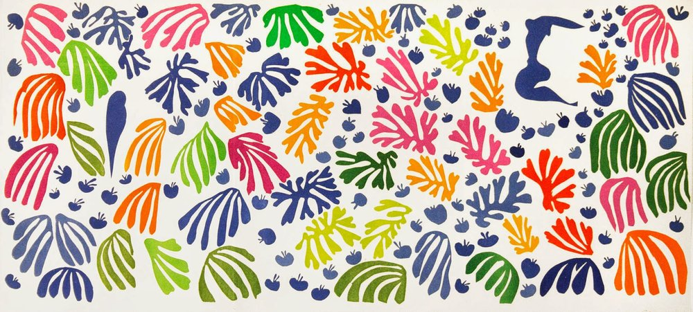 Matisse - The Cut-Outs: The Parakeet and the Mermaid, 1952