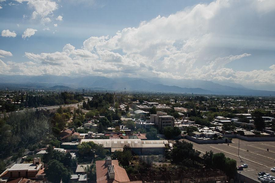 foto panorámica de la Ciudad de Mendoza