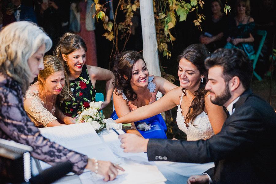 momento emotivo de la ceremonia civil