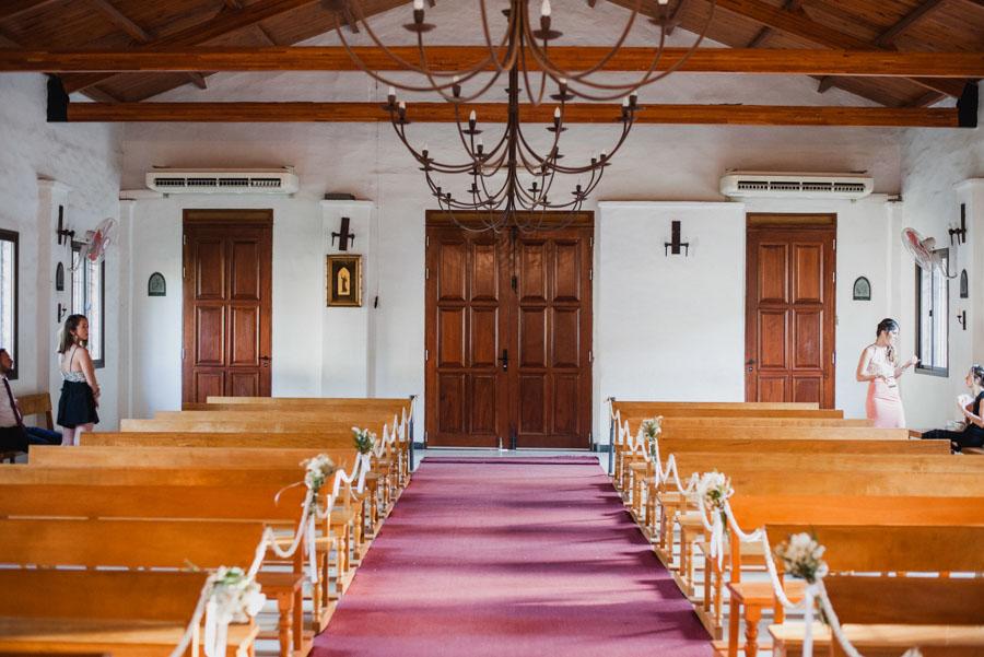 interior de la Capilla Santa Cecilia
