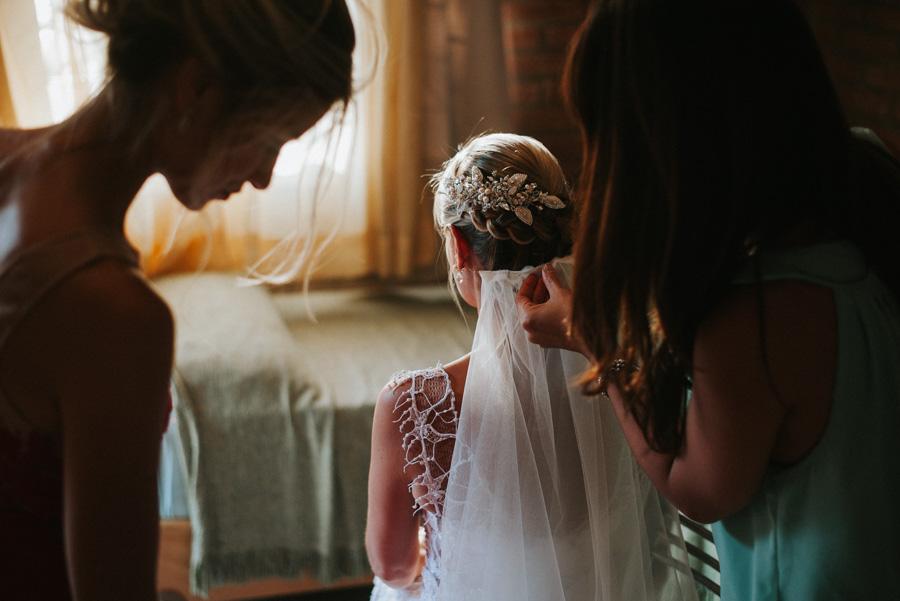 Final de los preparativos de la novia