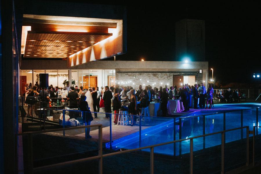 Vista del salón iluminado