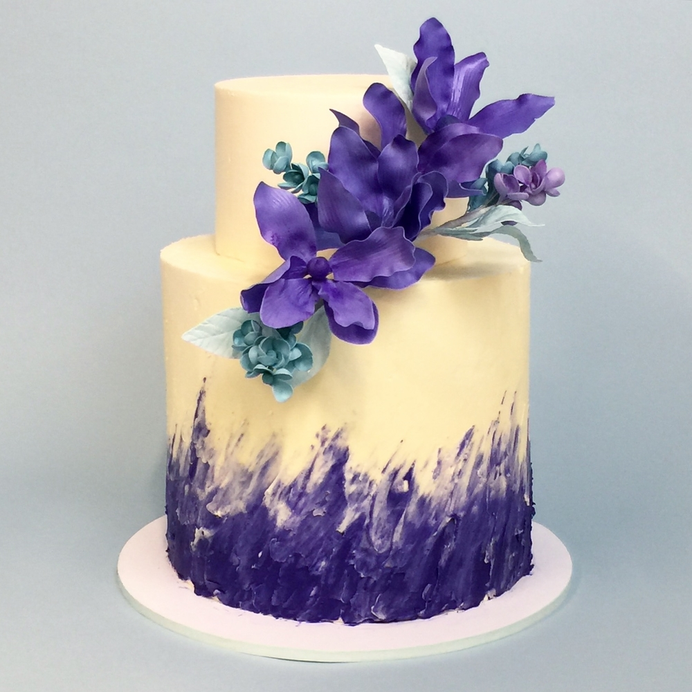 Purple Painted Buttercream