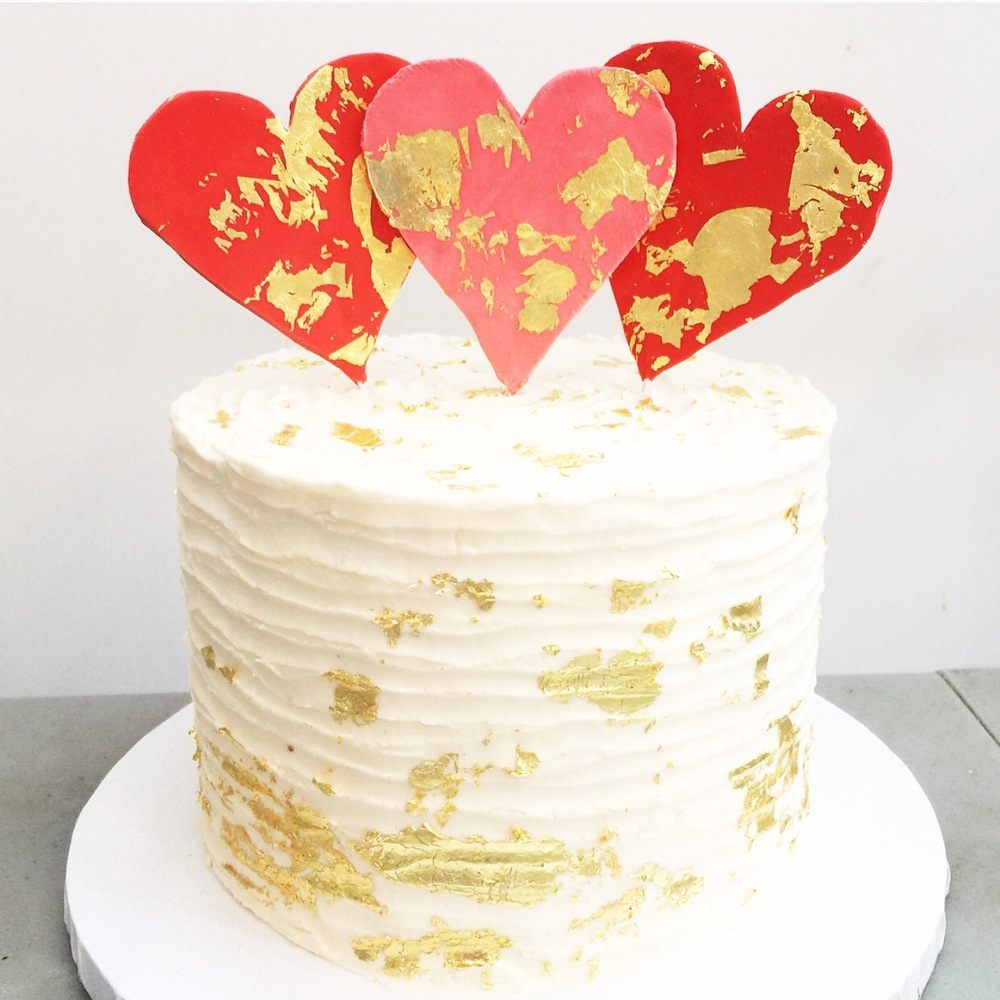 Simple Hearts and Gold Leaf