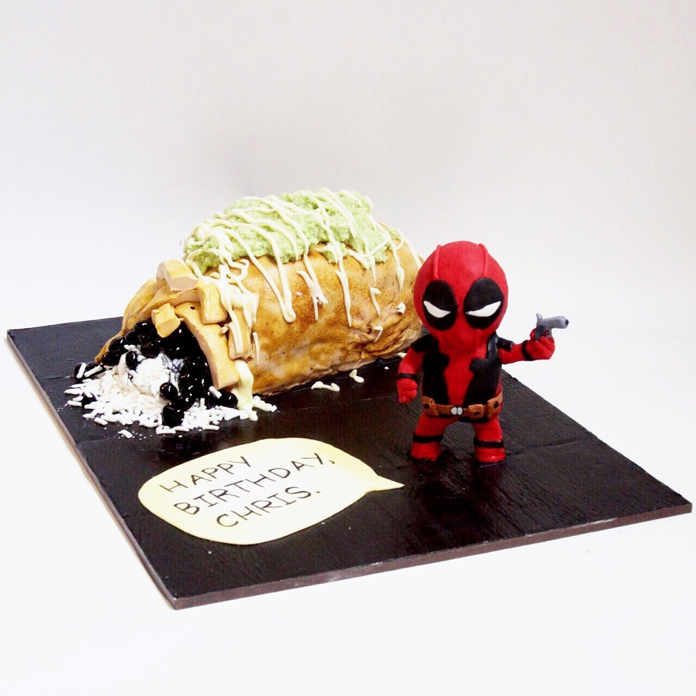 Lil Deadpool Guarding Chimichanga