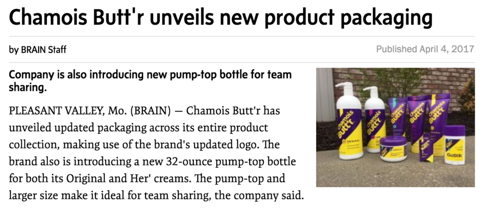 Source: http://www.bicycleretailer.com/product-tech/2017/04/04/chamois-buttr-unveils-new-product-packaging#.WOZyGlPytol