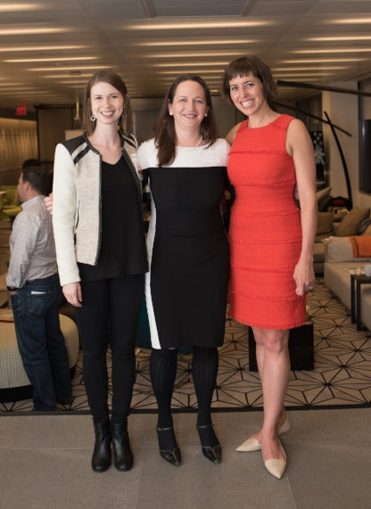 This year's winner, Jen, last year's winner, Marci, and Inspiring Capital CEO, Nell