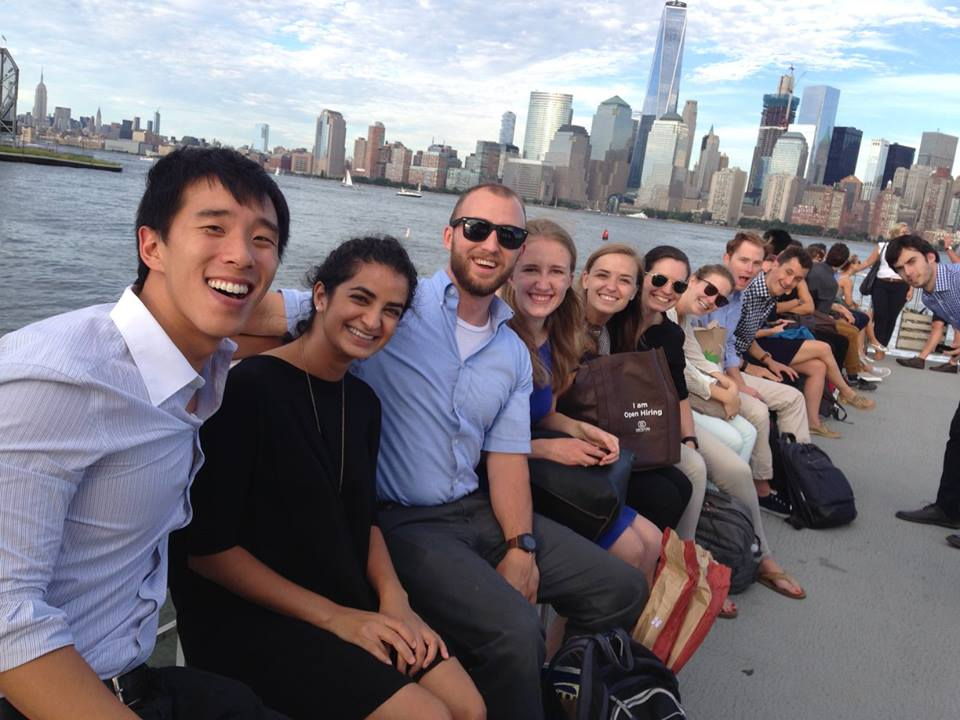 2016 fellows take in the NYC skyline by sea for their last evening