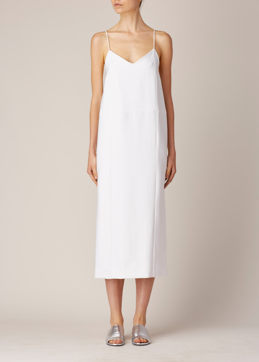 Suzanne Ray White Camisole Dress