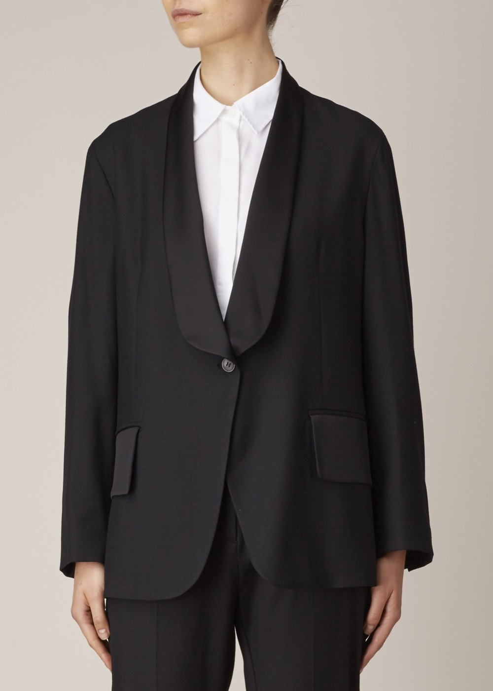 MM6 Maison Margiela Black Single Button Blazer
