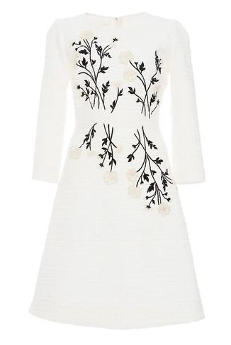 Giambattista Valli | Daisy embroidered tweed dress