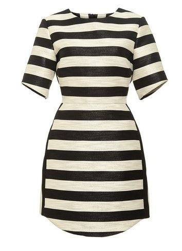 Haney | Striped shimmer mini dress
