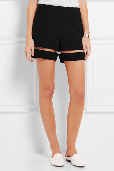 Alexander Wang Cut Out Crepe Shorts