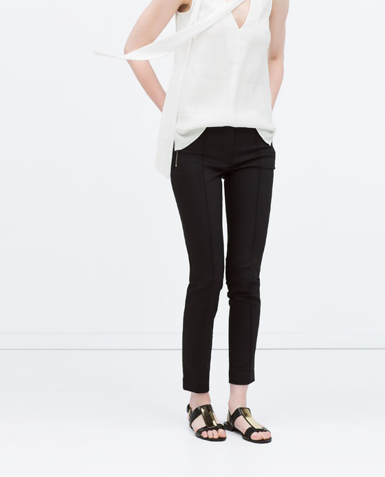Zara Skinny Trousers with Zips