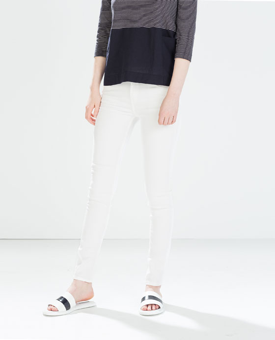 Zara Skinny Peach Finish Trouser