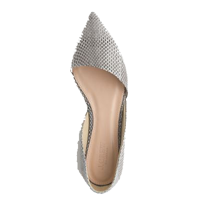 J.Crew Collection Sloan snakeskin d'Orsay Flats