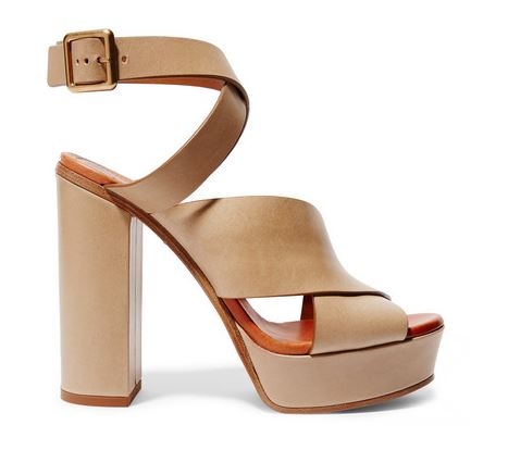 Chloe leather platform sandals