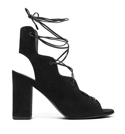 Saint Laurent babies lace-up suede sandals