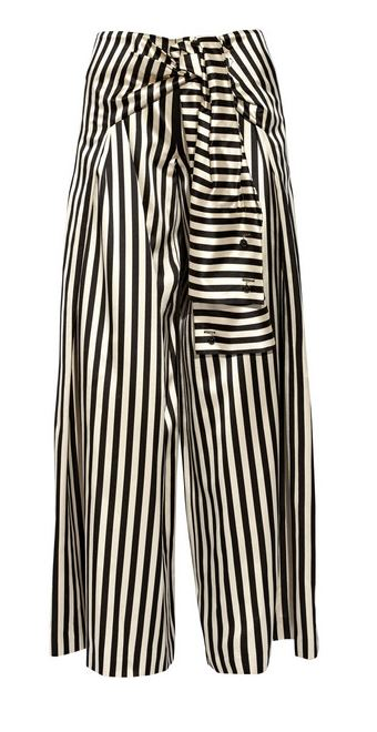 Monse Striped duchesse wide-leg pants