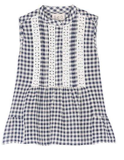 Sea Gingham Top