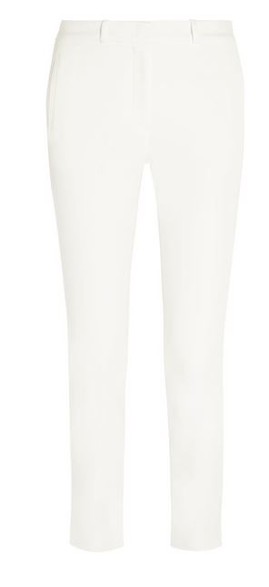 Joseph White Skinny Cropped Trousers