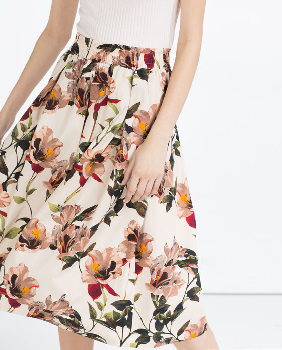Zara Full Floral Skirt
