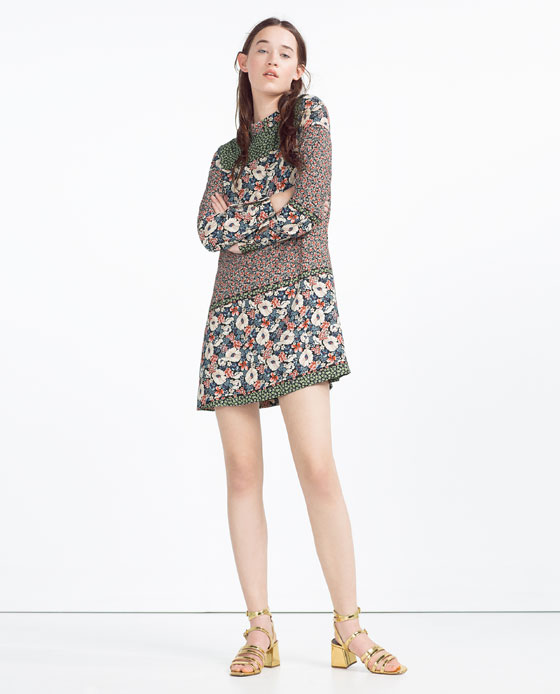 Zara Floral Mini Dress