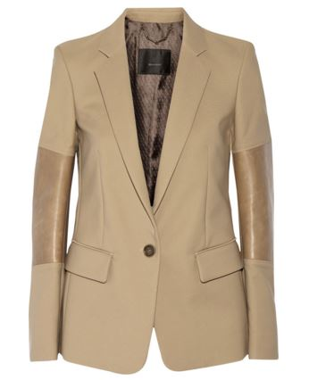 Belstaff leather and cotton blazer
