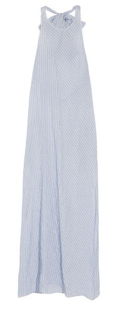 Baja East striped cotton halterneck maxi dress
