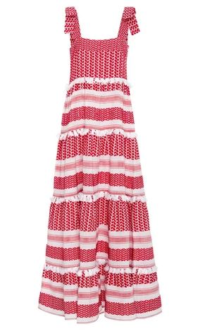 dodo bar or cotton amal tiered maxi dress