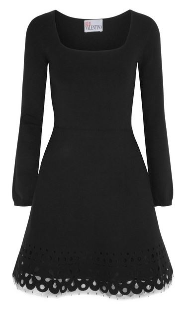 REDvalentino black swiss dot dress
