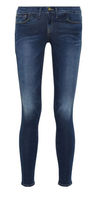 Frame Denim dark wash skinny jeans