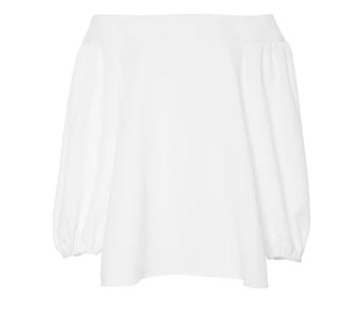 Tibi white off-the-shoulder blouse