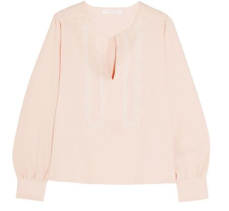 see by chloe pink blush blouse