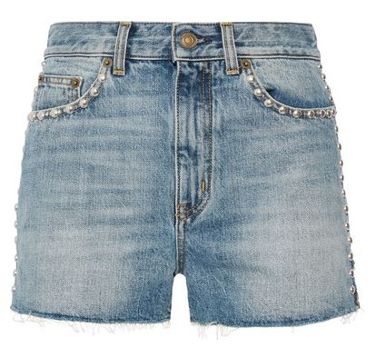 Saint Laurent cut off shorts